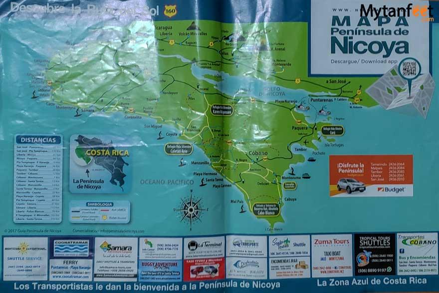 Nicoya Peninsula map