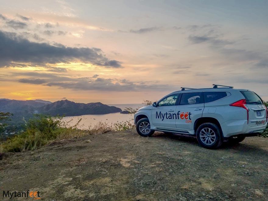 Renting a car in Costa Rica views
