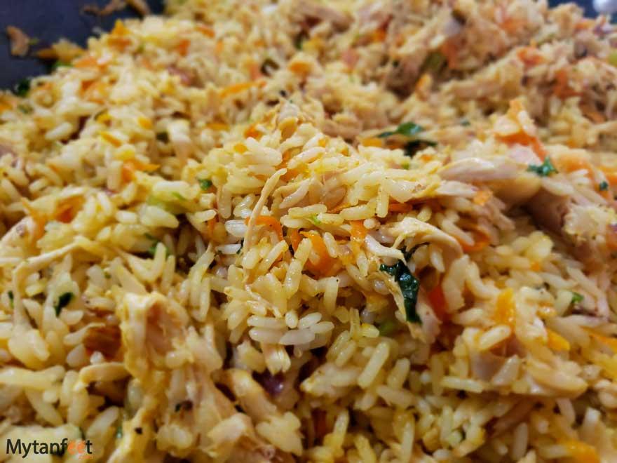 costa rican rice with chicken recipe (arroz con pollo)