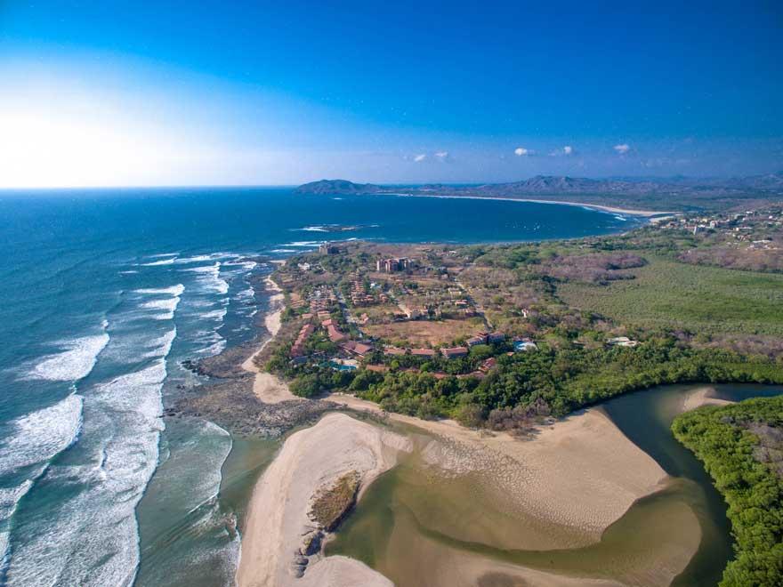 Playa Langosta Hotels - Aerial view