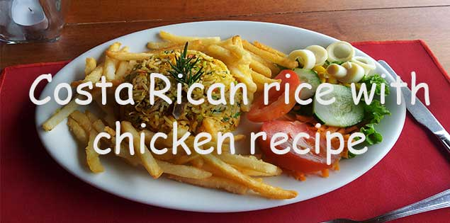 costa rican rice with chicken recipe featured