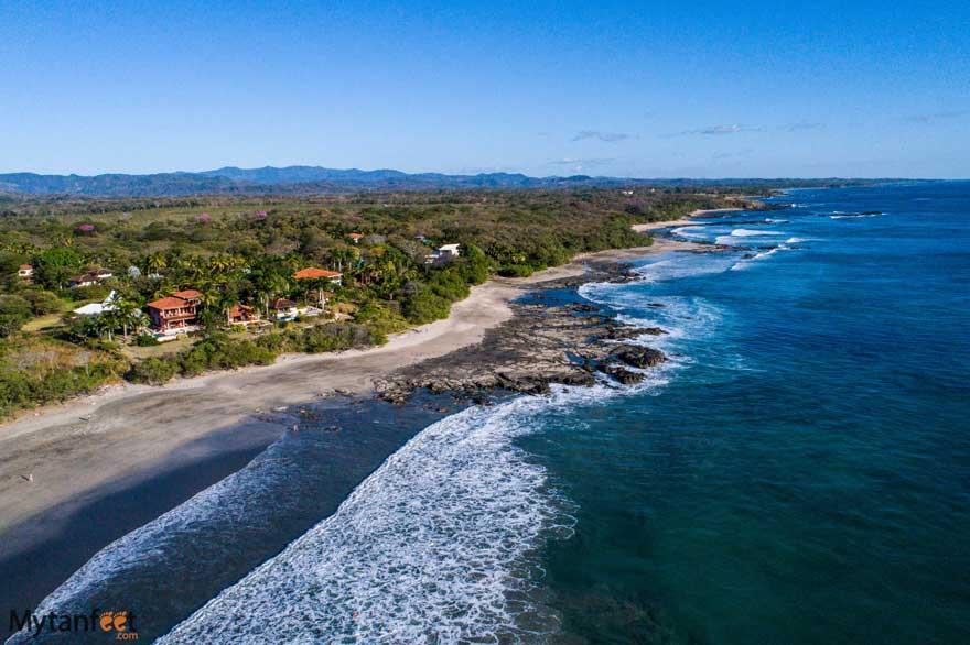 A few hotels on Playa Negra beach