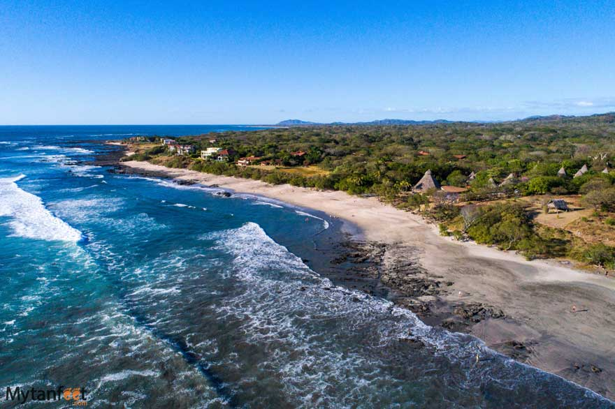 Aerial photo of Playa Negra Guanacaste