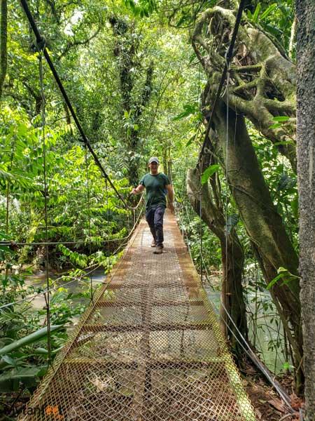 Tenorio Volcano National Park bridge