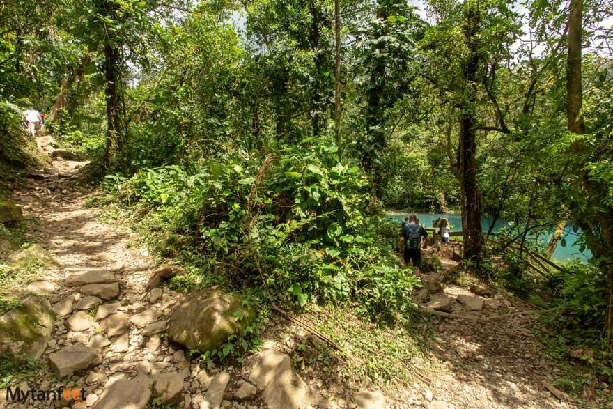 Tenorio Volcano National Park trails to blue lagoon