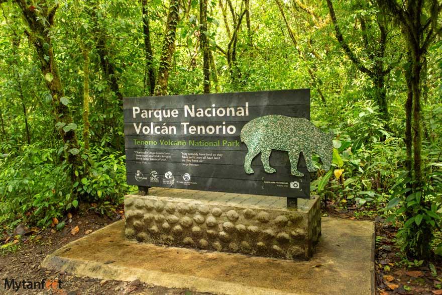 Tenorio Volcano National Park sign