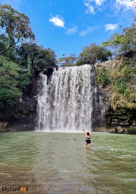 Costa Rica waterfall in Guanacaste