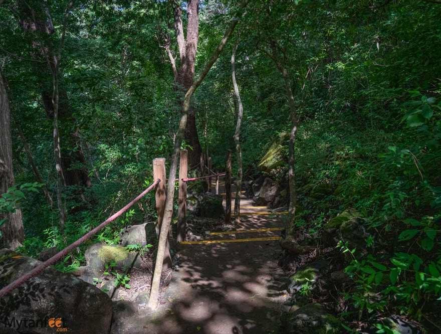 Trail to the Llanos de Cortez waterfall
