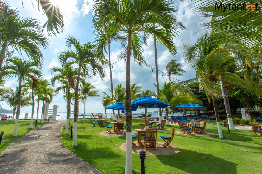 Resturant and lounge area of Bahia del Sol hotel on Potrero beach