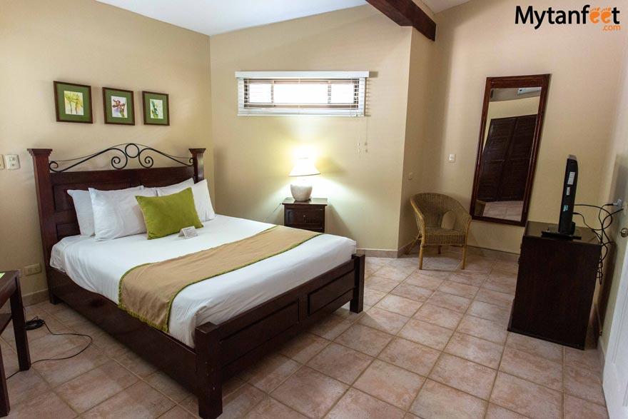 Master bedroom of the suite in Bahia del Sol Hotel, Potrero