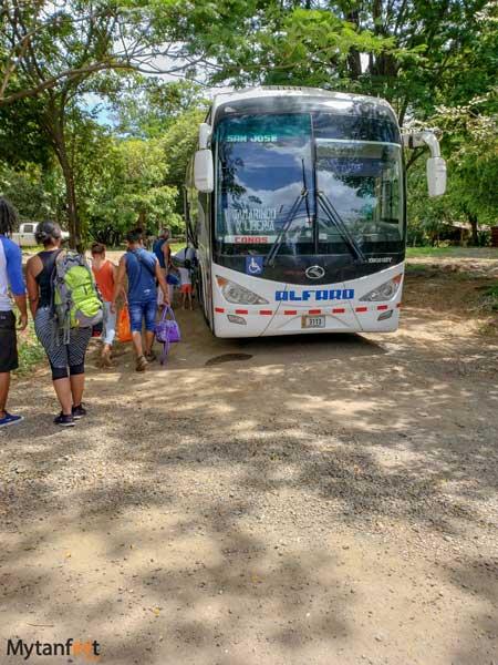 Empresa alfaro tamarindo bus to san jose
