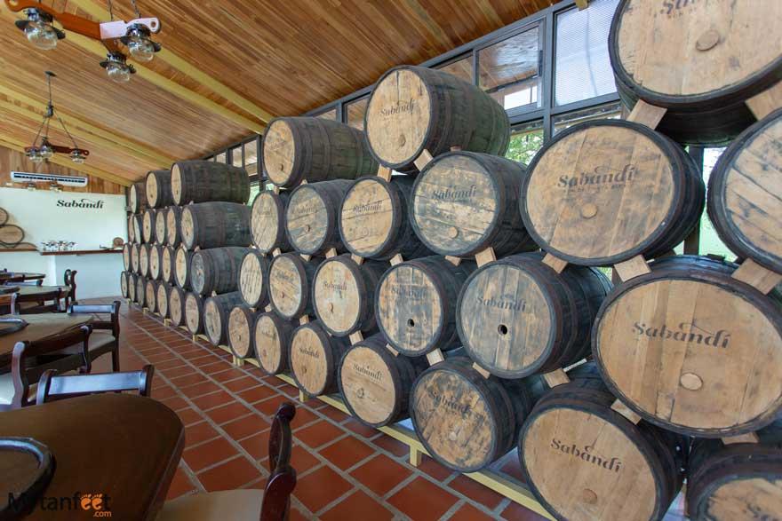 Hacienda El Viejo rum storage rickhouse