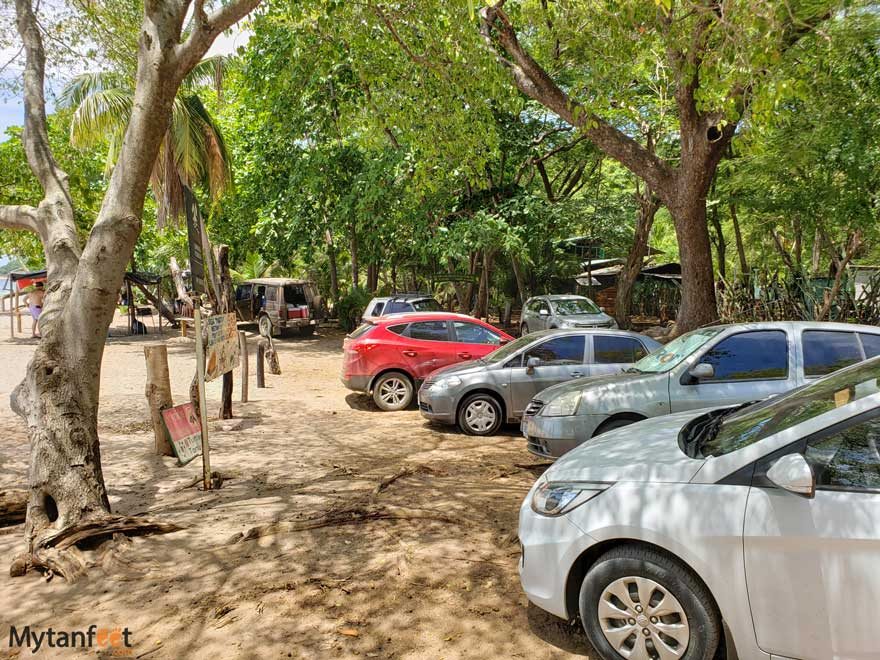 Playa Bahia de los Piratas parking lot