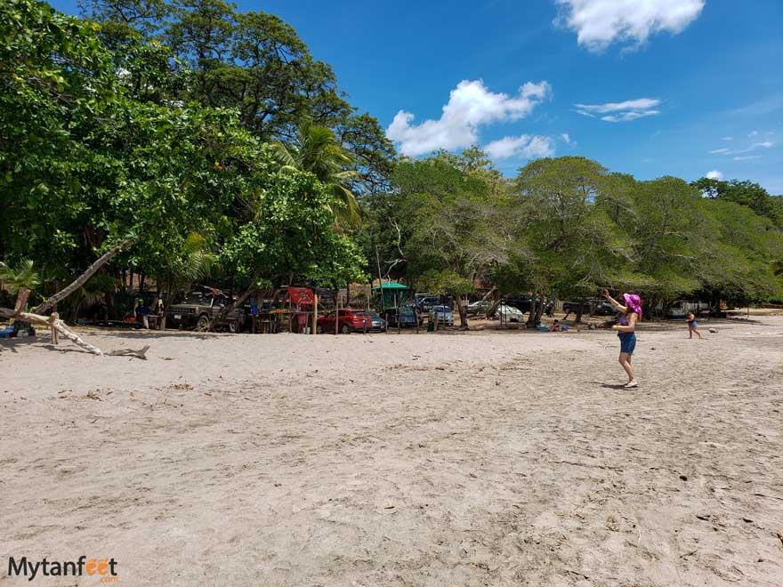 Playa Bahia de los Piratas parking