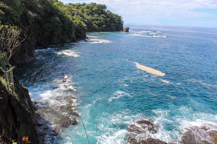 Sea cliff view at Playa Huevo