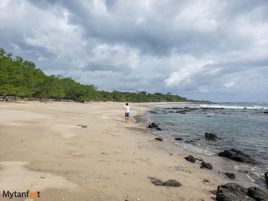 One person at Playa Lagartillo