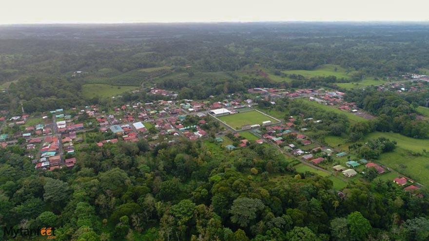 The city of La Virgen in Sarapiqui, Costa Rica