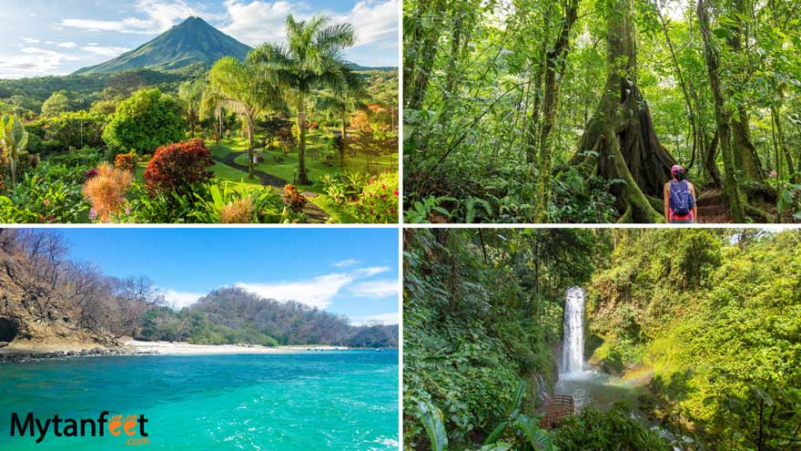 do's and dont's of costa rica - volcano, waterfall, rainforest and beach