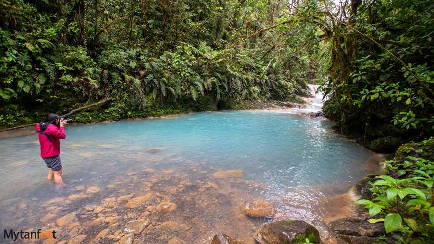 Blue Falls of Costa Rica blue pool