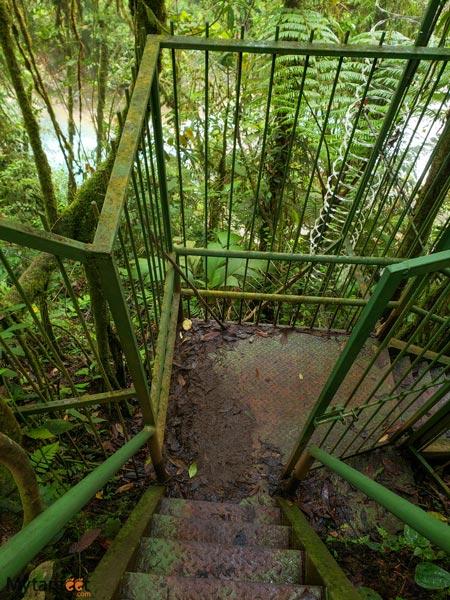 Blue Falls of Costa Rica trail