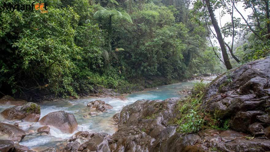 Blue river of Cataratas Las Gemelas