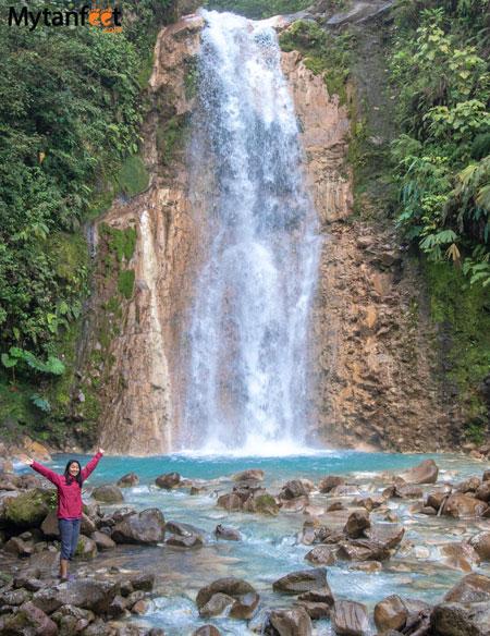 Blue falls of costa rica first waterfall