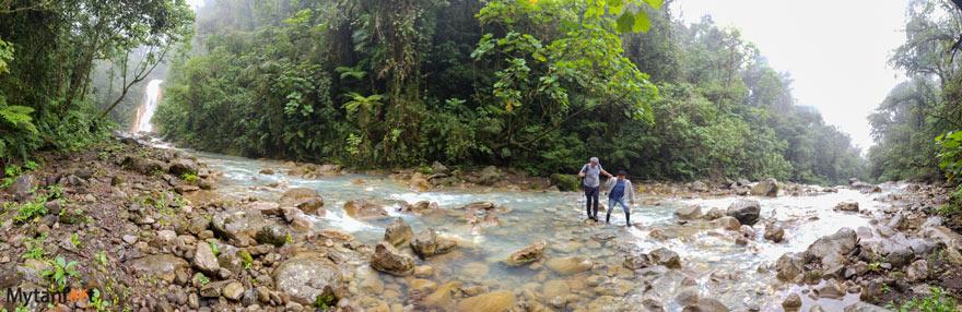 Crossing the Blue Falls