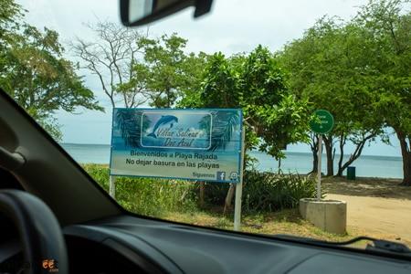 Driving to Playa Rajada
