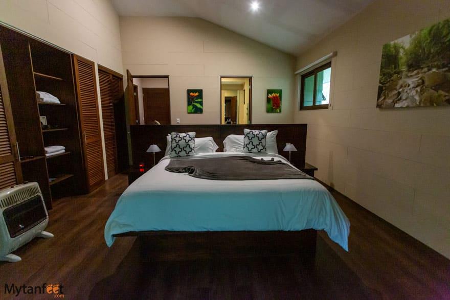 El Silencio Lodge and Spa 2 bedroom suite master bedroom