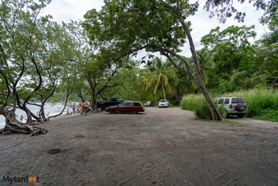 Playa Prieta parking lot