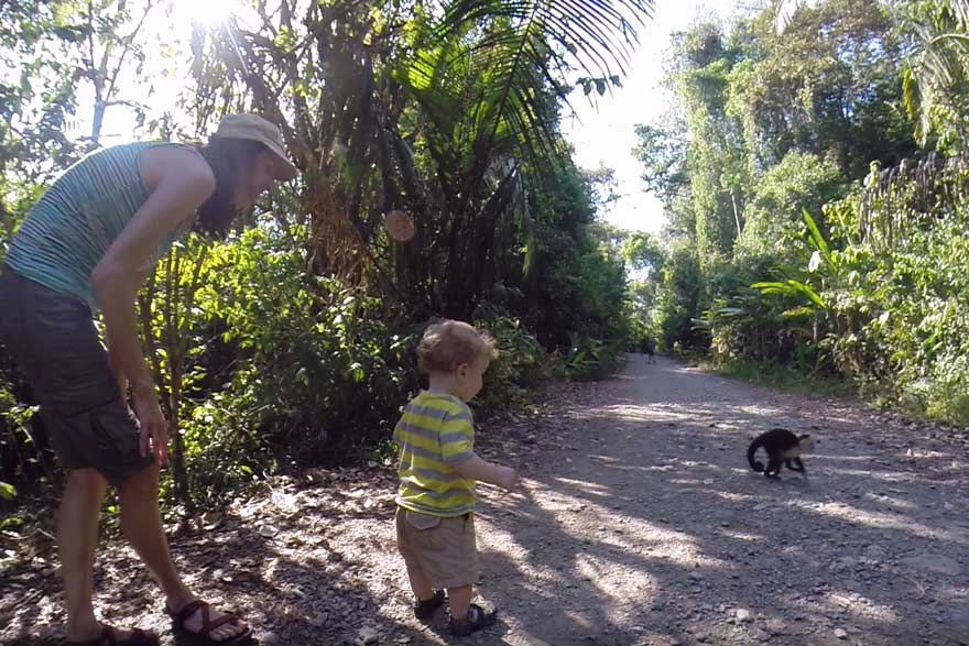 Costa Rica itinerary for families - manuel antonio national park