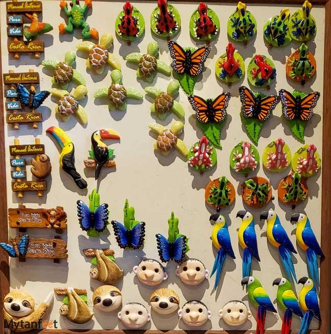 Costa Rican souvenirs magnets