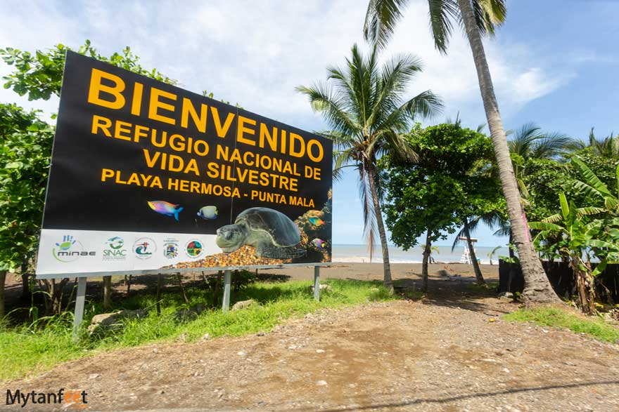 Entrance to Playa Hermosa