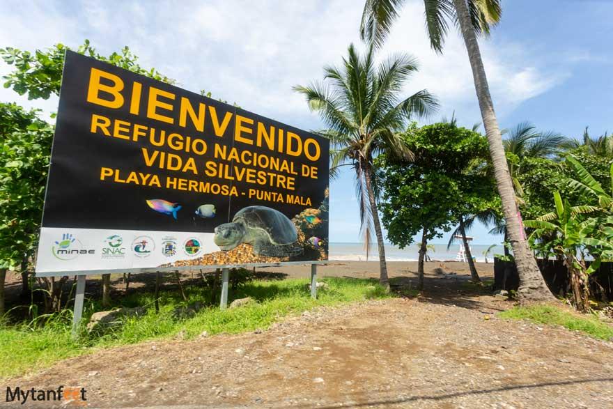 Entrance to Playa Hermosa