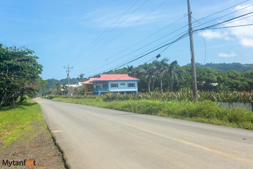 Playa Hermosa (Jaco) road