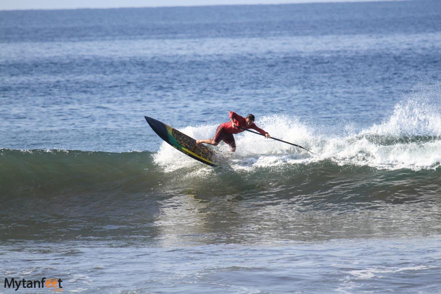 Stand up paddle surfing in Hermosa beach