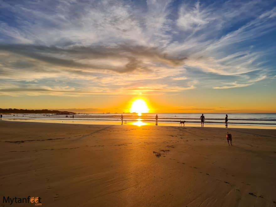 Sunset at Tama beach