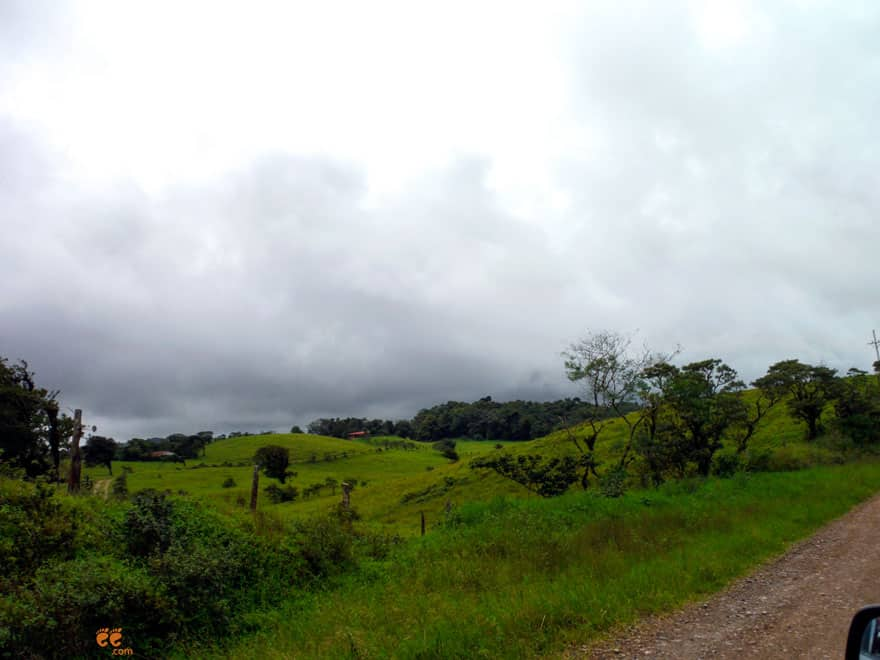 Driving from La Fortuna to Monteverde