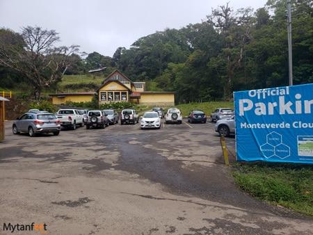 Monteverde Cloud Forest Reserve parking lot