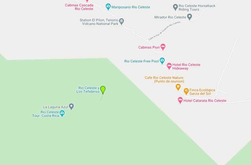 rio celeste map google