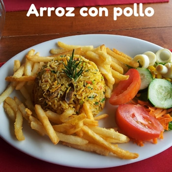 Costa Rican rice with chicken