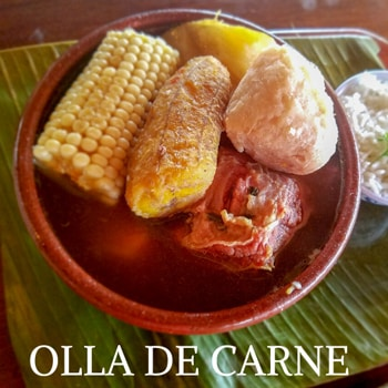 Olla de carne -Costa Rican beef stew