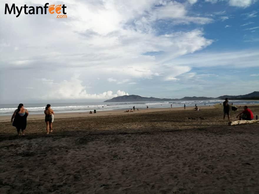 tamarindo beach during Costa Rica coronavirus situation