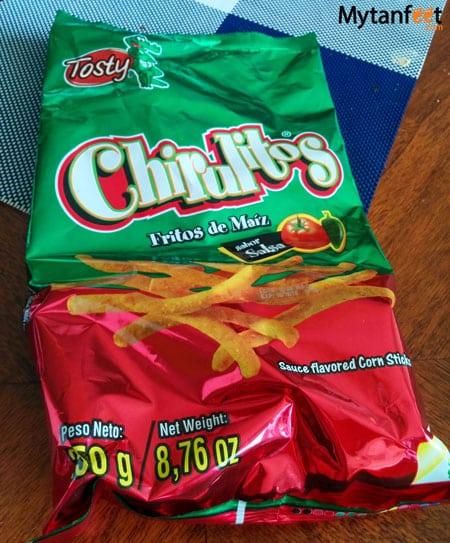 Costa Rican snacks chirulitos