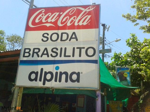 costa rica soda sign