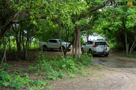 Playa Ventanas parking