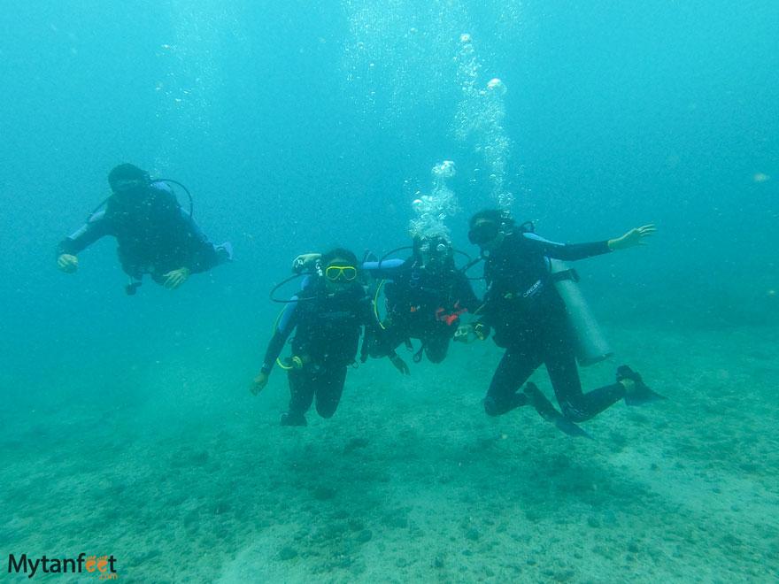 Scuba diving Las Catalinas
