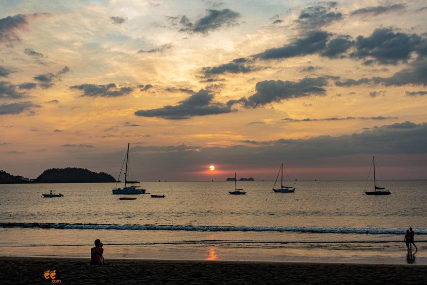 Potrero, costa Rica beach sunset