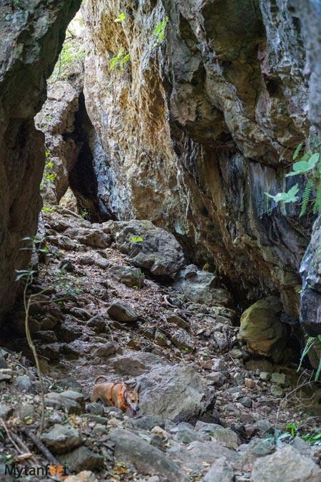 Catarata La Leona cave