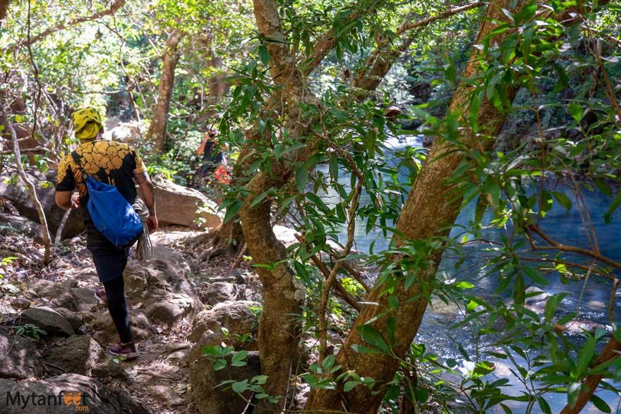 Catarata La Leona trails